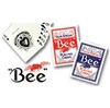 1 Red and 1 Blue Deck of BEE Playing Cards