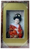 Japanese Geisha Frame Orange Kimono (Rectangular Frame)