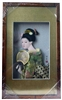 Japanese Geisha Frame Green Kimono with Fan (REC3)