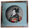 Japanese Geisha Frame Black Kimono (Square w/ Circle Window)