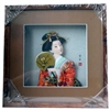 Japanese Geisha Frame Red Kimono (Square w/ Squared Window)