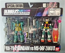 RX-78-2GUNDAM and MS-06FZAKUII Figures