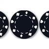 "50 piece Black ""Suited"" Poker Chips"