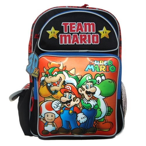 Super Mario Team Mario Backpack Bag