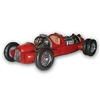 Red Auto Union Werksmannschaf Race Car