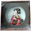 Japanese Geisha Frame Red Flower Kimono with Fan (SC18)
