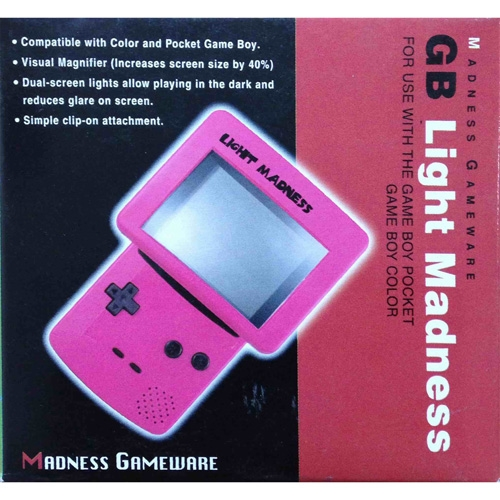 Gb Light Madness Visual Booster For Gameboy Pocket Color Red